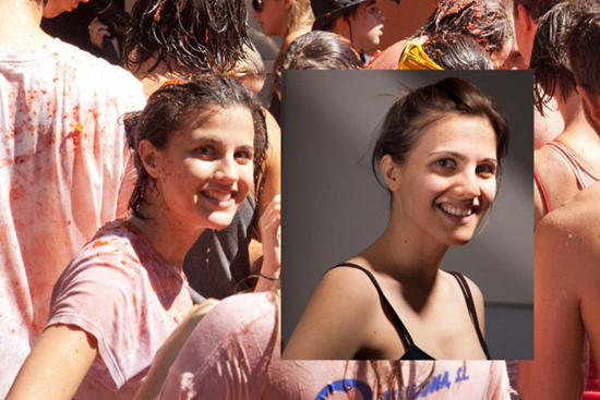 Unknown doppelganger on the left - Eva Casado on the right