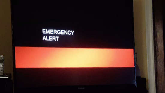 "TV broadcasts in California interrupted with apocalyptic warning ""violent times will come"""