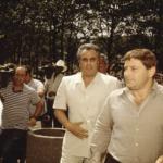 "Salvatore ""Sammy The Bull"" Gravano (right) with mob boss John Gotti"