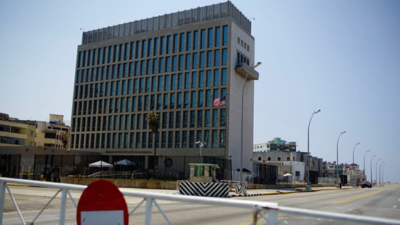 US Embassy in Cuba as viewed from road