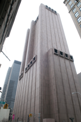 Exterior of the top secret NSA/AT&T facility known as Titanpointe (33 Thomas Street)