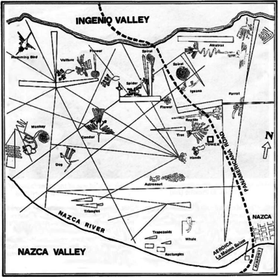Map of the Nazca Lines