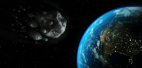 Asteroid passing earth