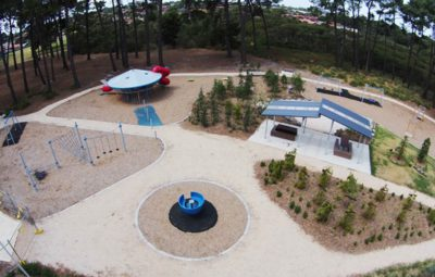 Westall UFO landing site is now a playground park with a UFO monument dedicated to the event