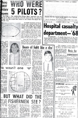 Westall UFO newspaper headline: Who were the five pilots