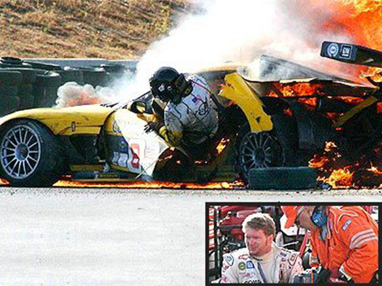 Racing legend Dale Earnhardt Jr. recalls ghostly presence ...Dale Earnhardt Bloody Car