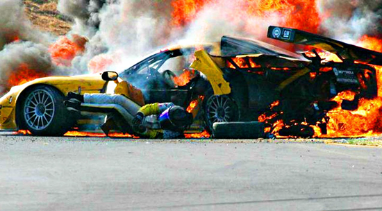 Racing legend Dale Earnhardt Jr. recalls ghostly presence after fiery 2004 crash – says spirit may have pulled him from burning car.