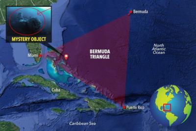 Map of underwater UFO/USO location