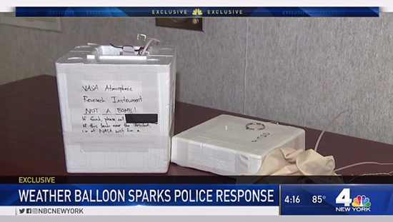 NASA package with bizarre note falls from sky