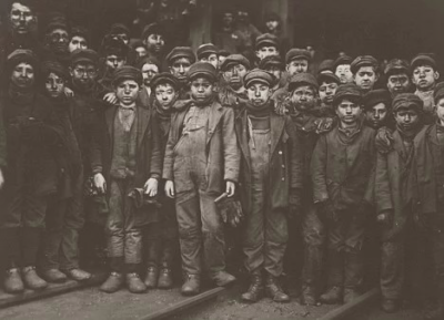 Young chimney sweeps in Victorian England