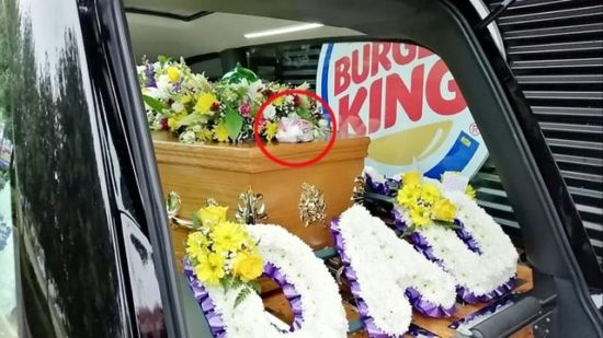 Dead man orders Burger King double-bacon cheeseburger for funeral