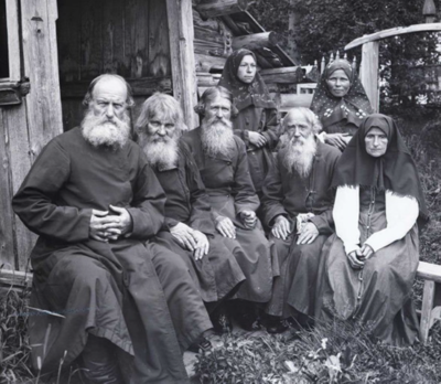 Old Believers religious branch members circa 1900