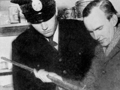 Psychic medium Olof Jonsson with officer Tore Hedin