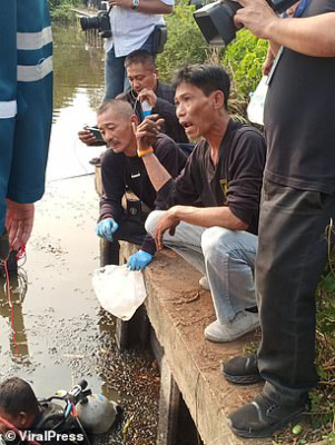 Thai investigators searching pond of Apichai Ongwisit