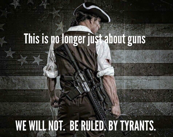 We will not be ruled by tyrants