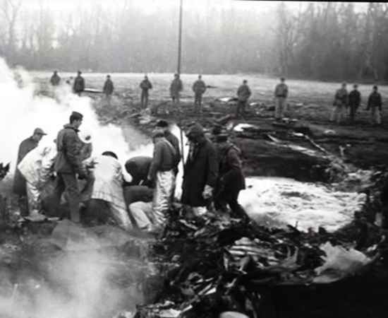 Personnel work to recover buried thermonuclear bomb that fell into a Faro, North Carolina field in 1961
